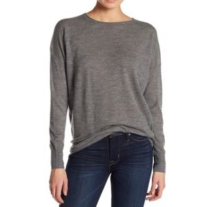 NWT Vince Gray Cashmere Boxy Pullover Sweater